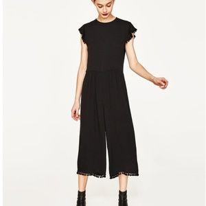 Zara Women Jumpsuit Pom Pom Size M
